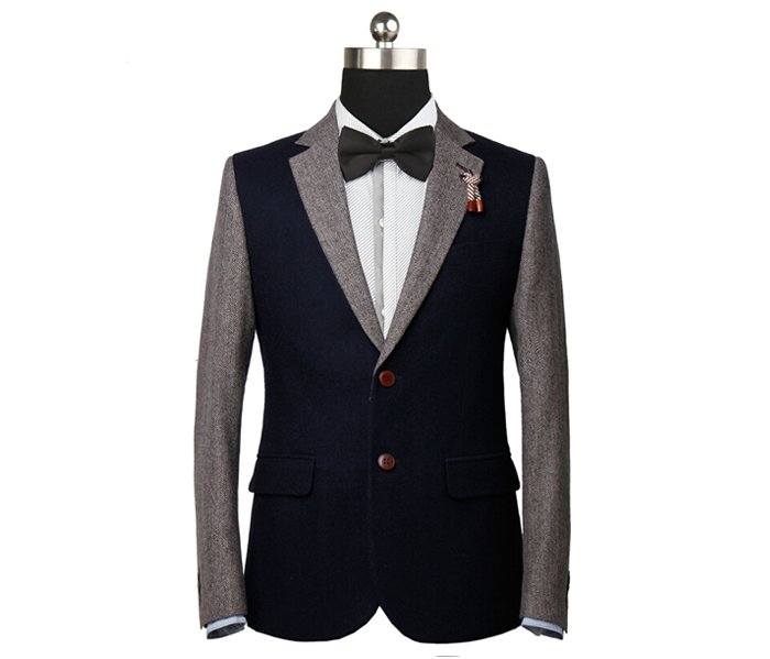 高级男士西装_男款英伦羊毛休闲西装