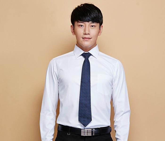 男士白衬衫_白色正装衬衫定制