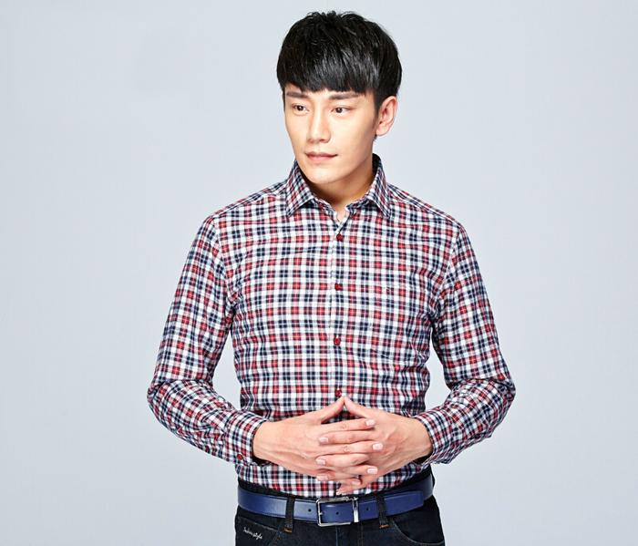 男士休闲衬衫定制_男士格子衬衫图片
