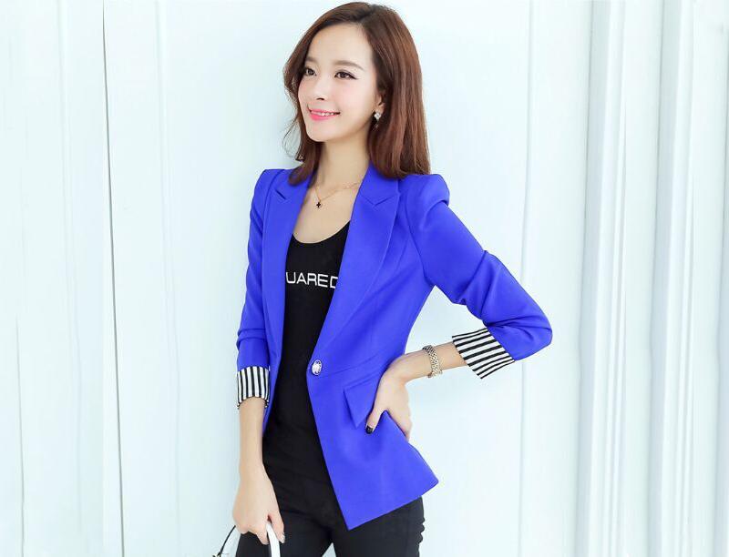 女式修身小西装,女士职业装修身版型,蓝色女式修身版型职业装